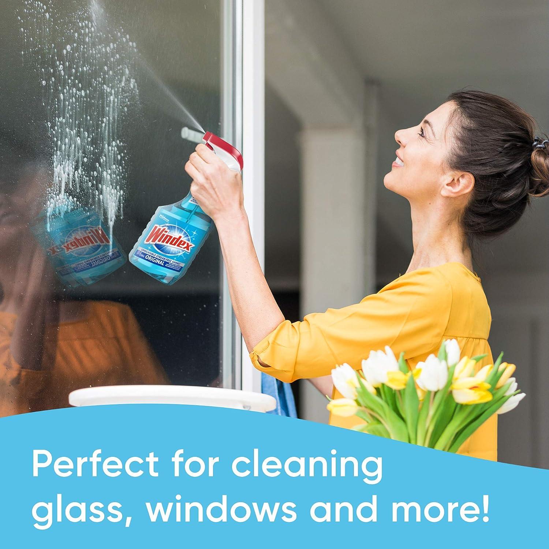 Windex Glass and Window Cleaner Spray Bottle, Original Blue, 23 fl oz: Prime Pantry