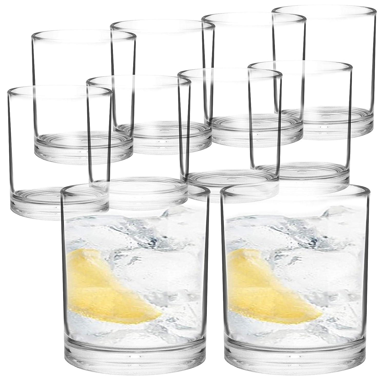 Youngever 8 Pcs Premium Quality Plastic Water Tumbler 12 Ounce, Plastic Glasses, Reusable Plastic Cups, Unbreakable Glasses, Plastic Tumblers
