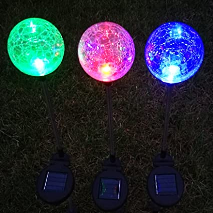 Mosaic Glass Outdoor Solar Power Light Color Changing Lawn Ball Lantern Led Light Yard Garden Holiday Decoration Lighting Lamps Yet Not Vulgar Access Control