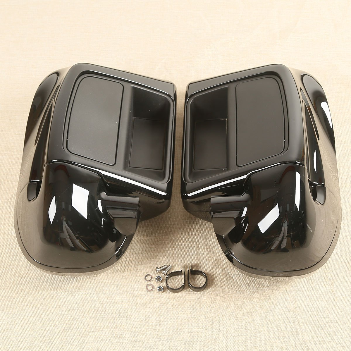 XFMT 6-1/2'' Speaker Box Pod + Lower Vented Fairing For Harley FLHT FLHX FLHR 2014-2018 17