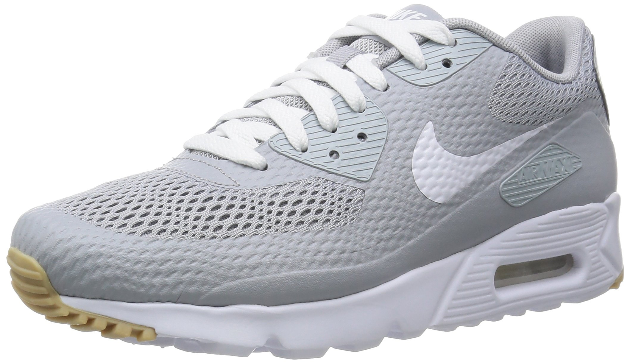 Nike air max 90 Ultra Essential Mens Trainers 819474 Sneakers Shoes (US 7, Wolf Grey White Wolf Grey 005)
