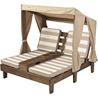 KidKraft Outdoor Wooden Double Chaise Lounger with Cup Holder
