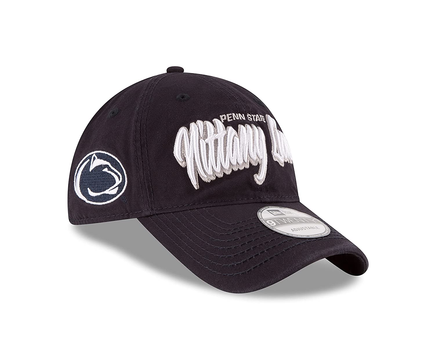 Navy One Size New Era NCAA Core Script 9TWENTY Adjustable Cap