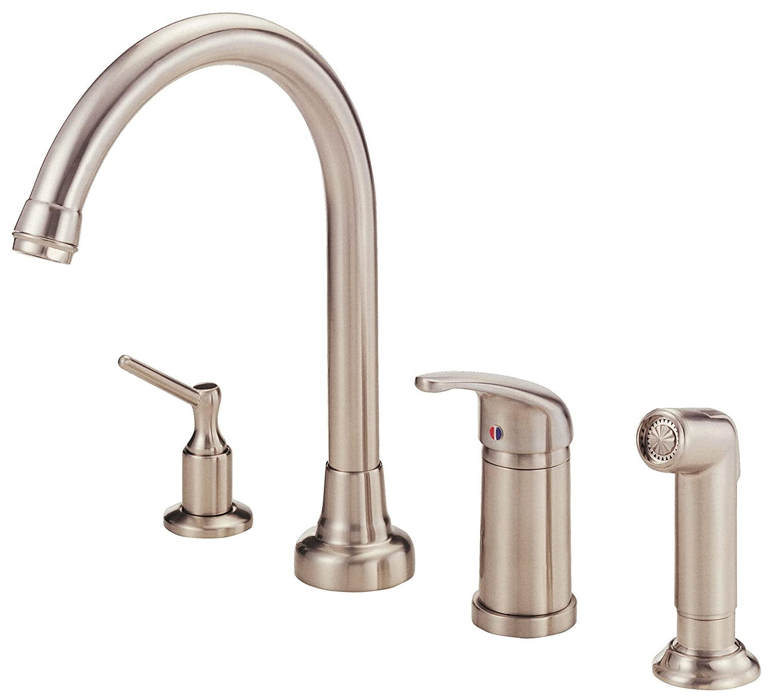 Danze D409112SS Melrose Single Handle High Rise Kitchen Faucet With Side  Spray And Soap Dispenser, Stainless Steel     Amazon.com
