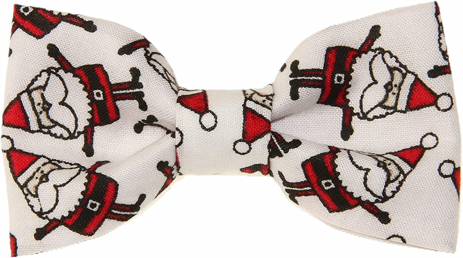 Amazon Com Toddler Boy 3t 4t Christmas Santa Clip On Cotton Bow Tie Made In The Usa Everything Else