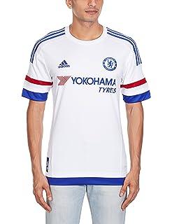 f7aa7f955 Amazon.com   adidas Chelsea FC 15 16 SS Away Jersey - Youth - White ...