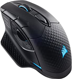 Corsair Dark CORE RGB SE Wired/Wireless Gaming Mouse with Qi Wireless Charging, 16000 DPI, Optical Sensor, Backlit RGB - Black