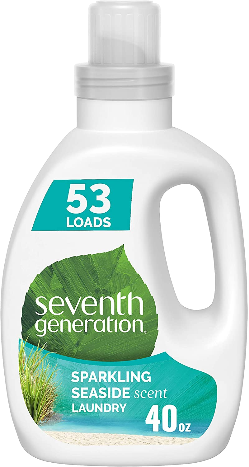 Seventh Generation Concentrated Laundry Detergent, Sparkling Seaside scent, 40 oz (53 Loads)