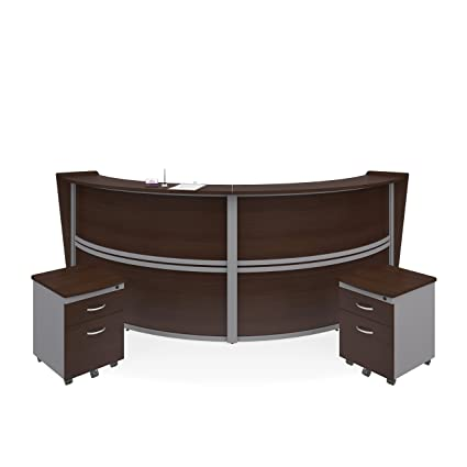 walnut office furniture. OFM Marque Series Double-Unit Curved Reception Station - Office Furniture  Receptionist/Secretary Desk Walnut Office Furniture R
