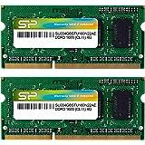 Silicon Power 8GB Kit (4GBx2) DDR3/DDR3L 1600 MT/S (PC3-12800) Unbuffered SODIMM 204-Pin Memory