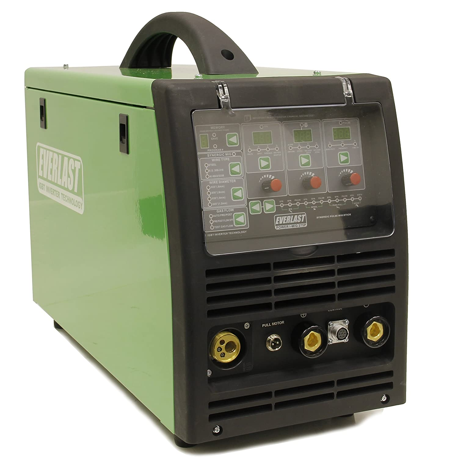 2017 PowerMIG275P 275 amp PULSE Synergic MIG STICK WELDER EVERLAST DIGITAL Everlast Power Equipment