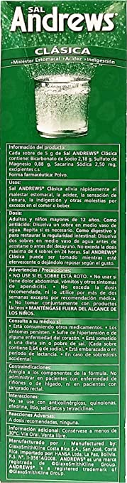 Amazon.com: Sal Andrews Antacid 50 Envelopes - Antiacido (Pack of 1): Health & Personal Care