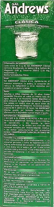 Amazon.com: Sal Andrews Antacid 50 Envelopes - Antiacido (Pack of 1): Health & Personal Care
