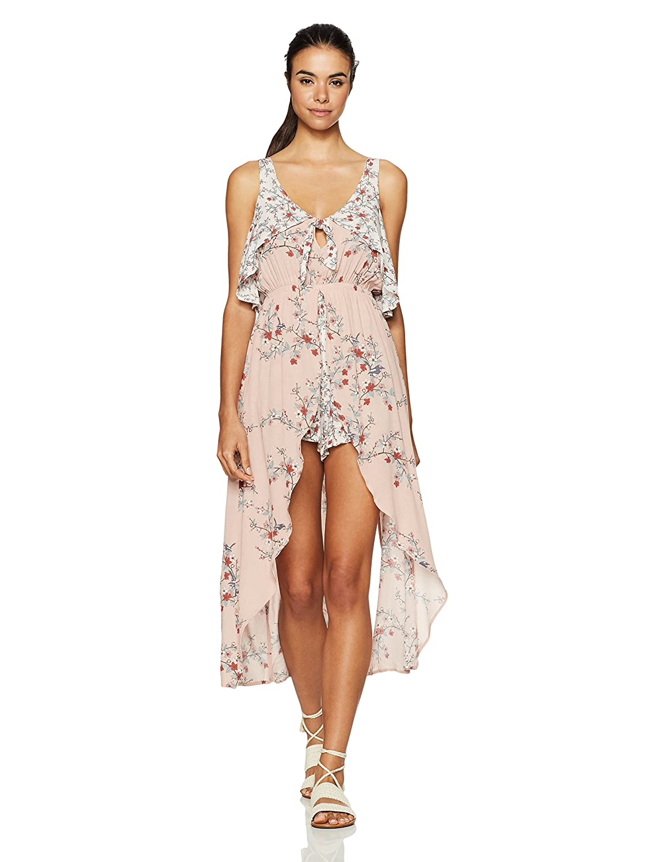 cb9f84c8a5d Amazon.com  Somedays Lovin Women s Sweet Sakura Floral Print Maxi Playsuit   Clothing