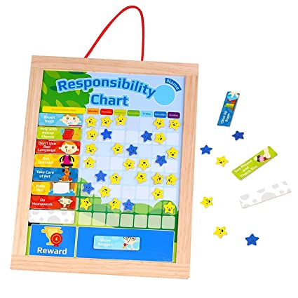 amazon com timy wooden rewards chore chart responsibility and