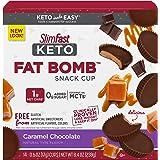 SlimFast Keto Fat Bomb Snacks - Caramel Chocolate - 14 Count Box - Pantry Friendly