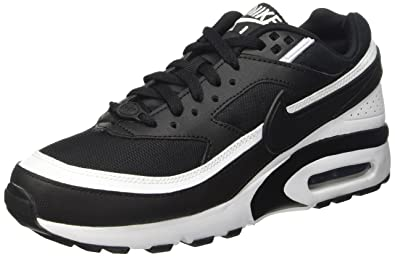 official photos c05dd 34fab Nike Air Max Bw Big Kids Style Shoes   820344, Black White, 5