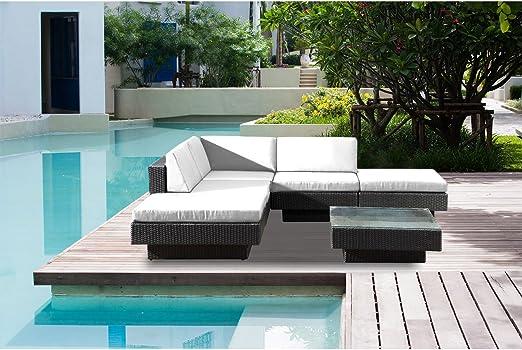 Concept-Usine Amorgos : salon de jardin d\'angle en résine 4 ...