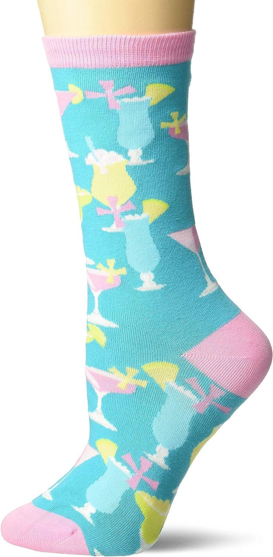 K. Bell Socks Women's Food & Drink Novelty Fashion Crew Socks