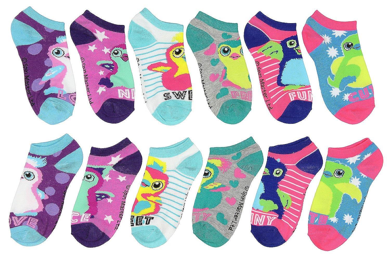 Hatchimals Burtle Draggle Owlicorn Penguala 6 Pair Girls Low Cut Ankle Socks