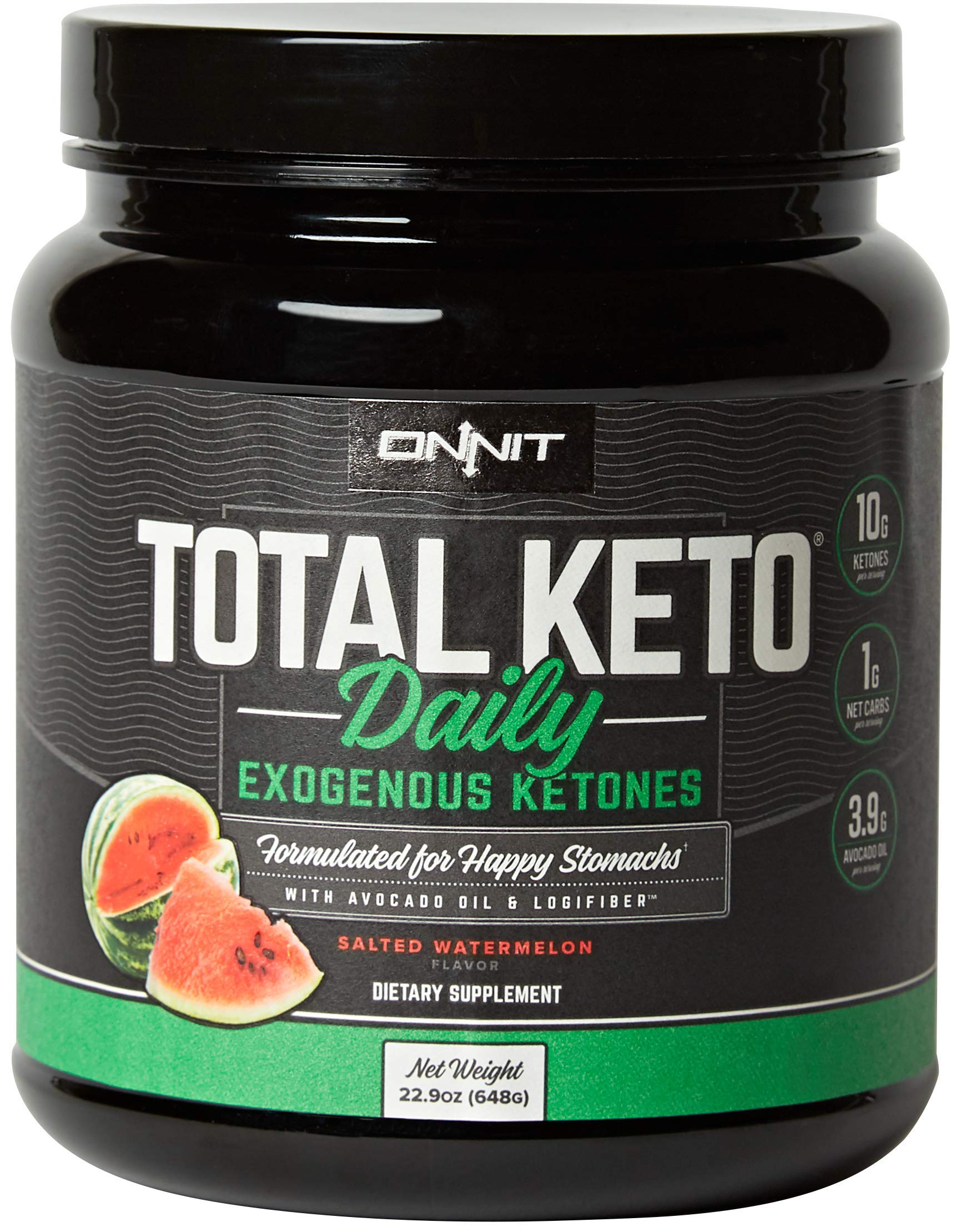 ONNIT Total Keto | Exogenous Ketones Supplement for Low Carb Diet | Premium Value Keto Supplement at 300g Ketone per Tub | Perfect Keto Fuel for Keto Shakes | Watermelon Flavor | 30 Servings by ONNIT