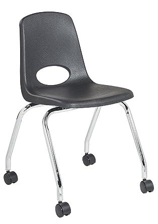 Amazoncom Ecr4kids 18 Mobile School Chair With Wheels Classroom