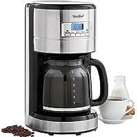 VonShef Filter Coffee Machine Drip Maker, 14 Cup, Digital 24 Hour Timer, Reusable Filter, Hot Plate