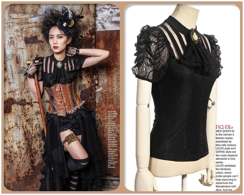 Top para mujer, estilo Steampunk, Retro Punk, gótico, Emo, disfraz de pirata: Amazon.es: Ropa y accesorios