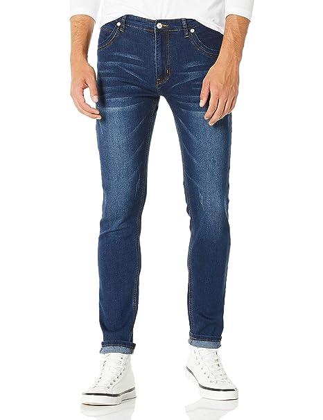 021248759 Demon&Hunter 808 Skinny Series Hombre Pantalones Vaqueros Pitillos Jeans