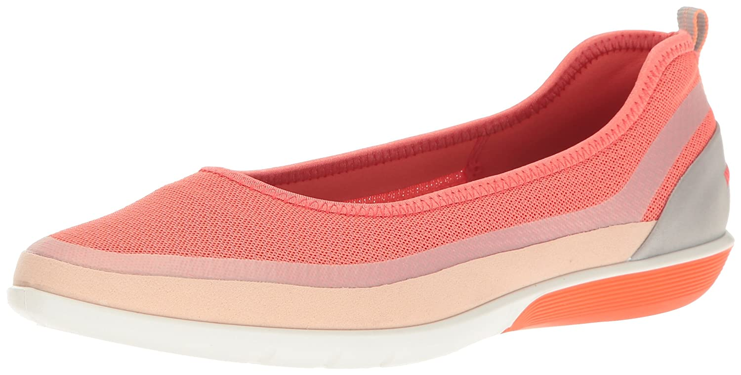 ECCO Women's Sense Light Ballerina Flat Fashion Sneaker B01I6E6XCU 39 EU/8-8.5 M US|Rose Dust/Coral B-silver M/Wild Dove