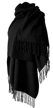 Echarpe étole chale en laine et cachemire grande épaisse et chaude   Vêtements  1a081578be7