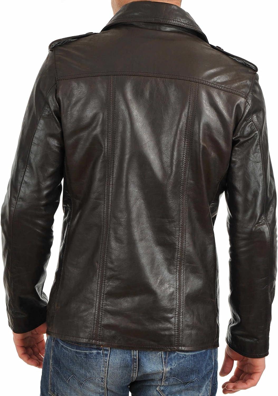 Mens Stylish Lambskin Genuine Leather Jacket 203