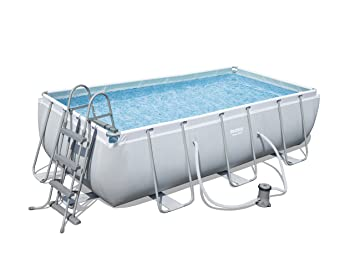 Bestway 56441 Juego de Piscina Rectangular Power Steel, Azul, 4.04m x 2.01m x 1.00m: Amazon.es: Jardín