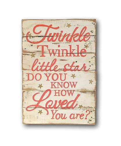 Amazon.com: Twinkle Twinkle Little Star Sign / Nursery Wall Art ...