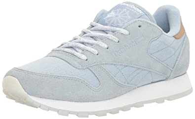 048fabe174dc5 Reebok Women s CL LTHR SEA-Worn Fashion Sneaker Gable Grey White 5 ...