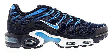 big sale 831a8 3c75c Nike Air Max Plus TXT, Chaussures de Running Homme, Noir Bleu Blanc