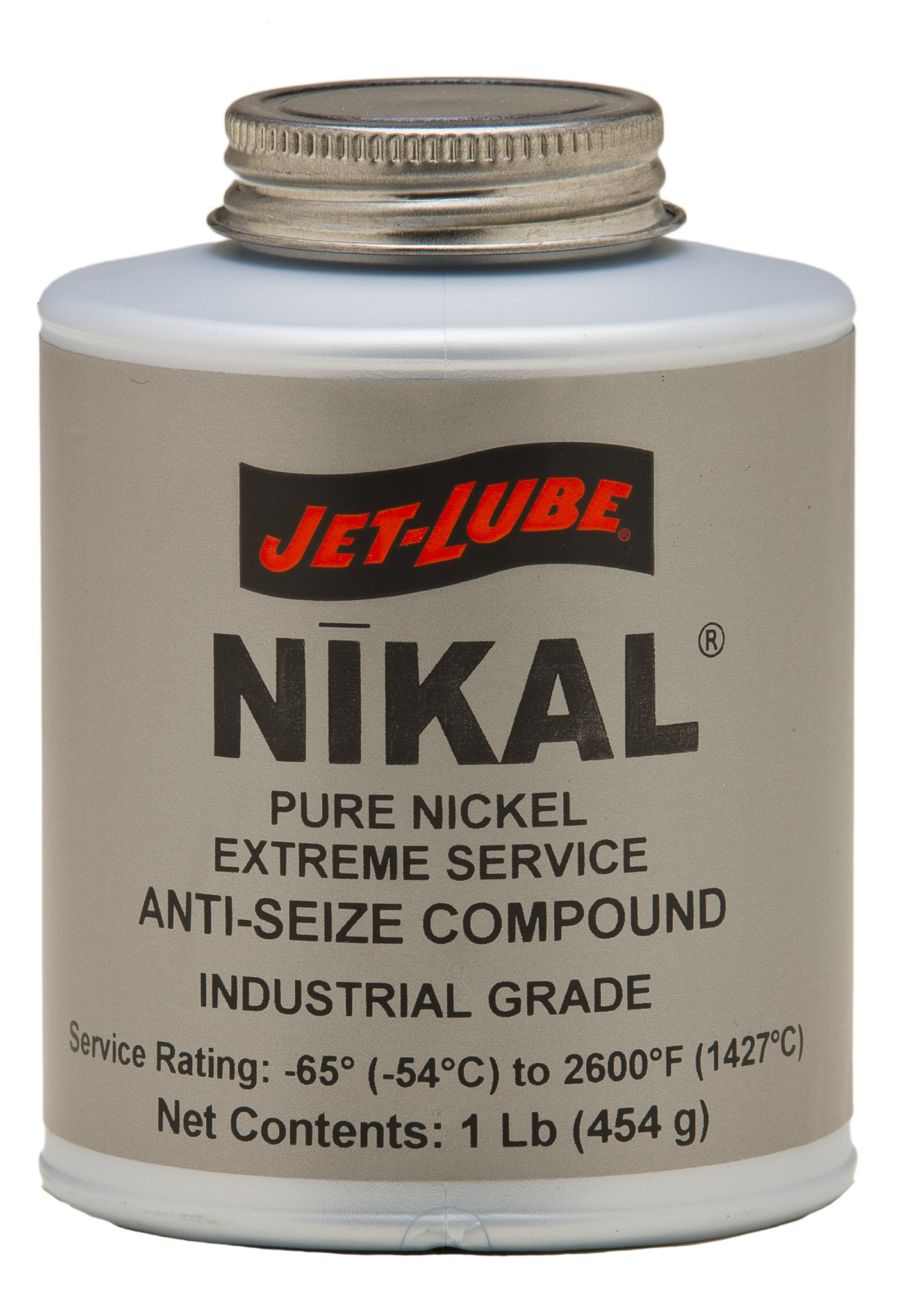 Jet-Lube Pure Nickel Extreme Anti-Seize and Thread Lubricant, 1/4 lbs Brush Top Can by Jet-Lube