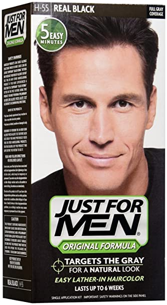 Amazon.com : Just For Men Shampoo-In Hair Color - Real Black : Beauty