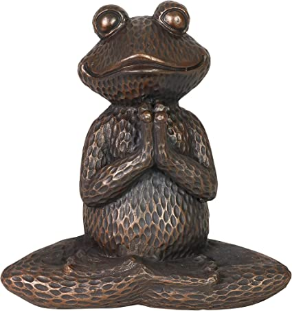 Whimsical  Frog Garden Feeder Statue All Friends Welcome Hand Painted New