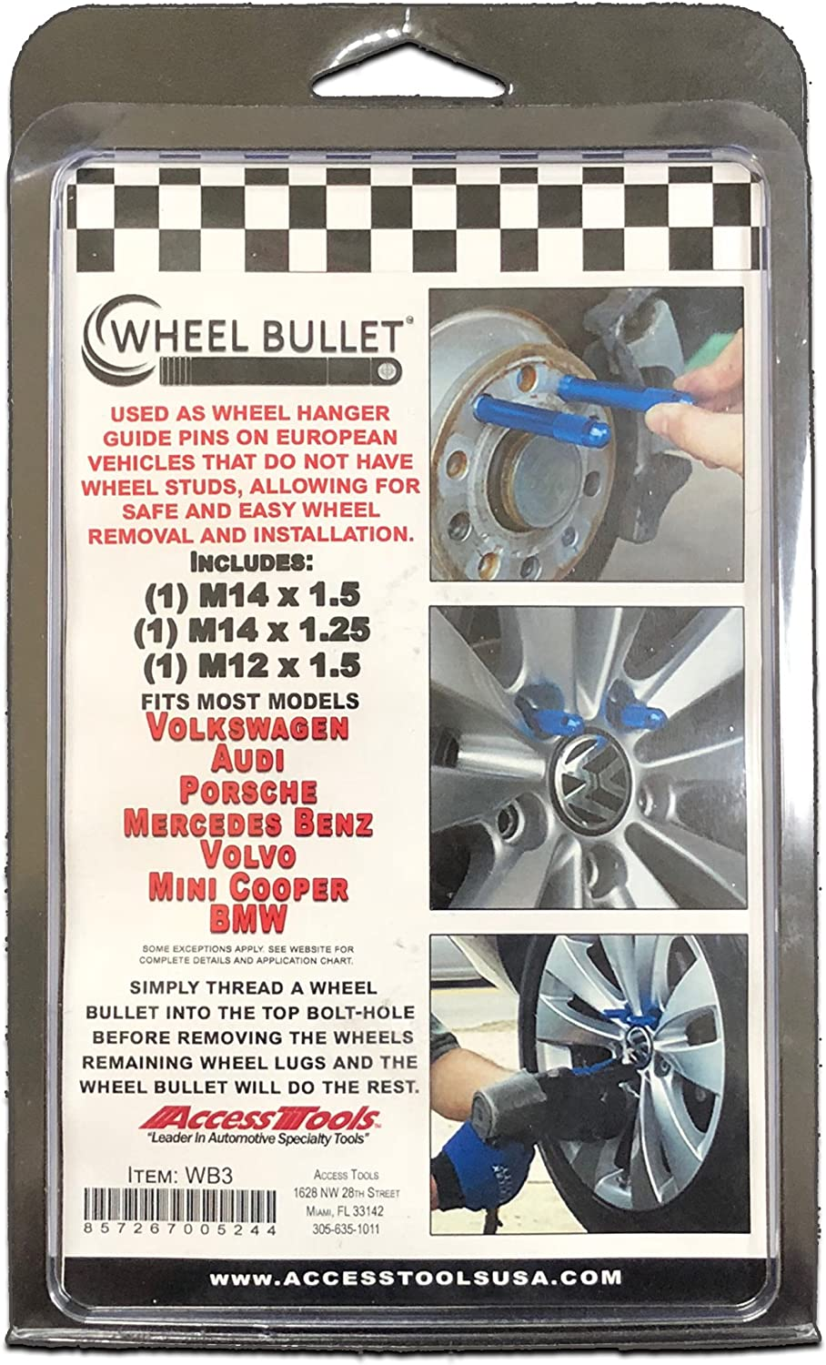 Access Tools WB24 Wheel Bullets 24 Pack Case not included