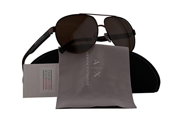 eeee84bd8d9 Armani Exchange AX2022S Sunglasses Matte Brown w Brown Lens 609873 AX 2022S   Amazon.co.uk  Clothing