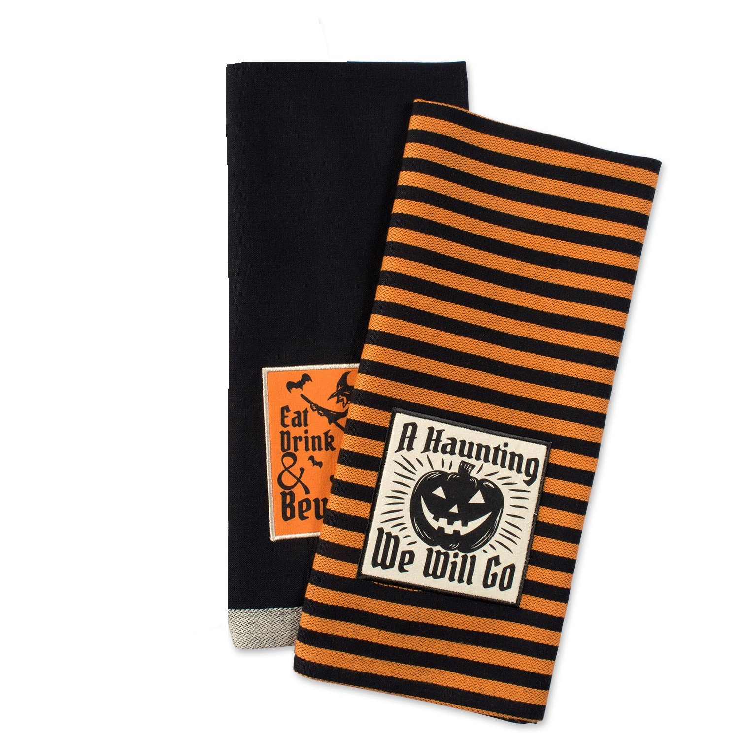 DII Cotton Halloween Holiday Dish Towels, 18x28 Set of 2, Decorative Oversized Kitchen Towels, Perfect Home and Kitchen Gift-All Hallows Eve CAMZ37635