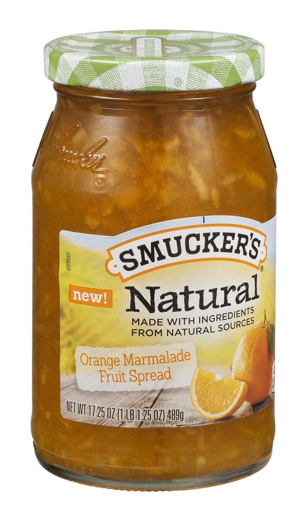 Smucker's Natural Fruit Spread Orange Marmalade 17.25OZ (Pack of 24)
