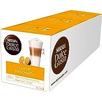 NESCAFÉ Dolce Gusto Latte Macchiato | 48 Kaffeekapseln | Aromatischer Espresso | 3-Schichten -Köstlichkeit aus feinem Milchschaum | Aromaversiegelte Kapseln | 3er Pack (3 x 16 Kapseln)