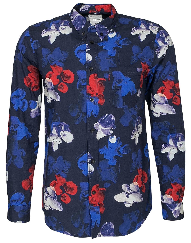 Wood Wood Paradiski Long Sleeve Shirt Tropical Navy
