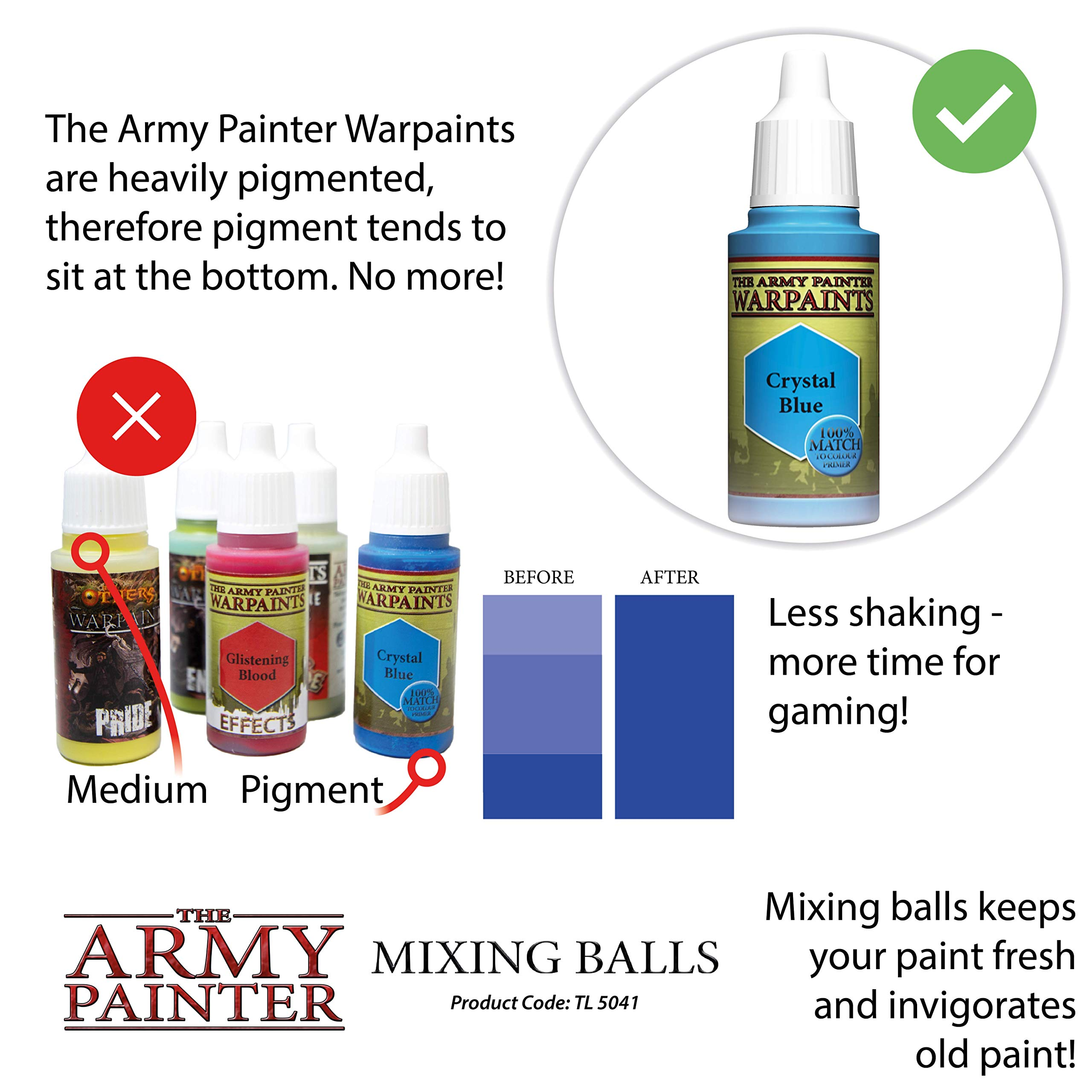 The Army Painter Paint Mixing Balls - Rust-proof Stainless Steel Balls for Mixing Model Paints - Stainless Steel Mixing Agitator Balls, 5.5mm/apr. 0.22'', 100 Pcs by The Army Painter (Image #5)