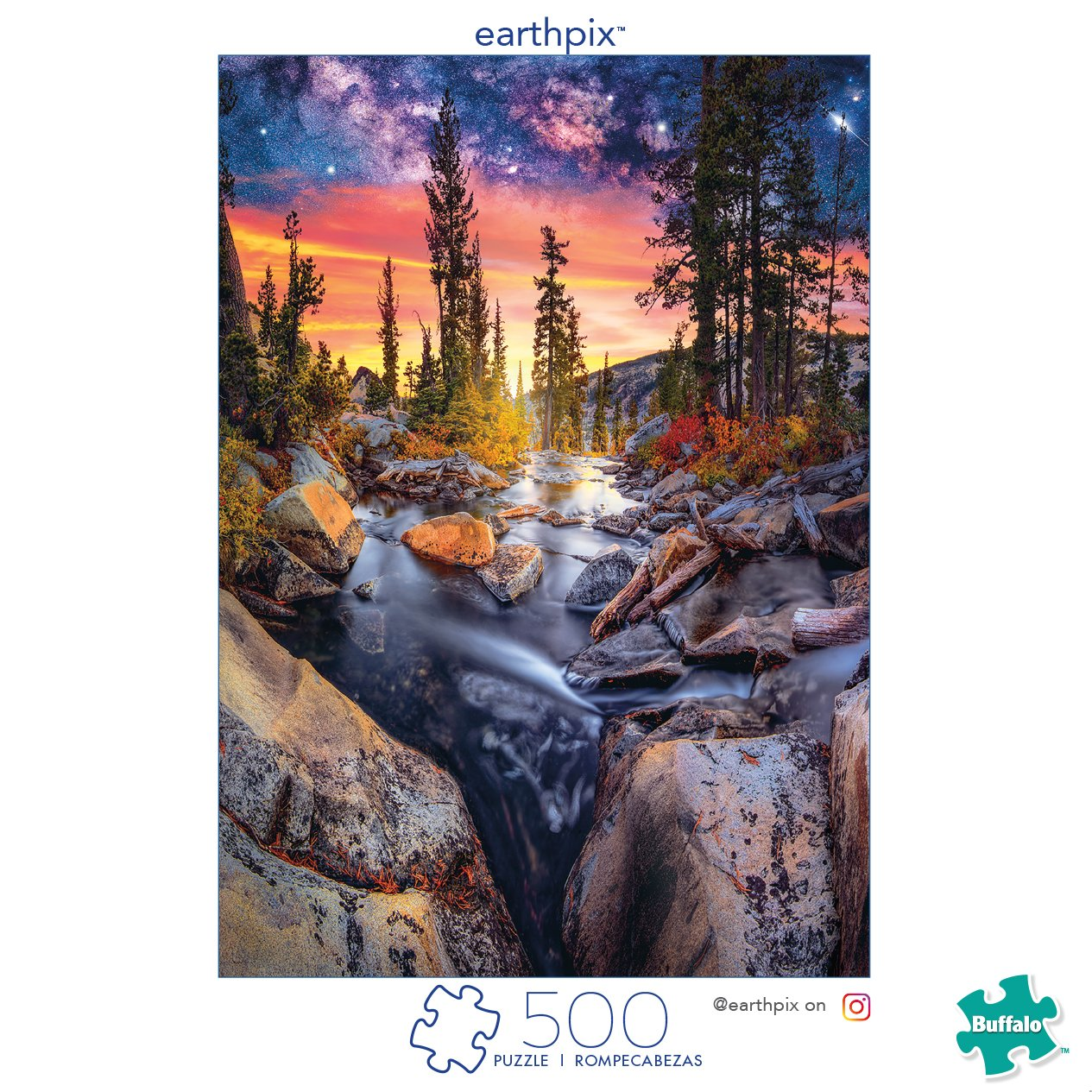 Buffalo Games - Earthpix Collection - Forest Magic Hour - 500 Piece Jigsaw Puzzle by Buffalo Games (Image #2)