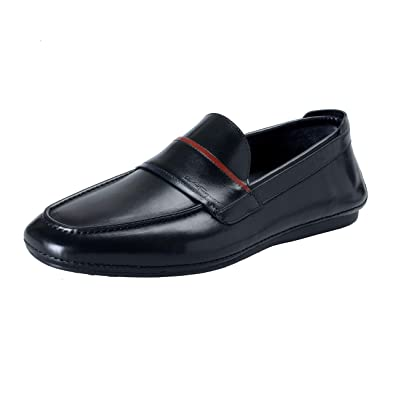 a899ada611084 Amazon.com: Salvatore Ferragamo Men's Florida Black Leather Loafers Shoes  Sz US 7EE IT 40EE: Shoes