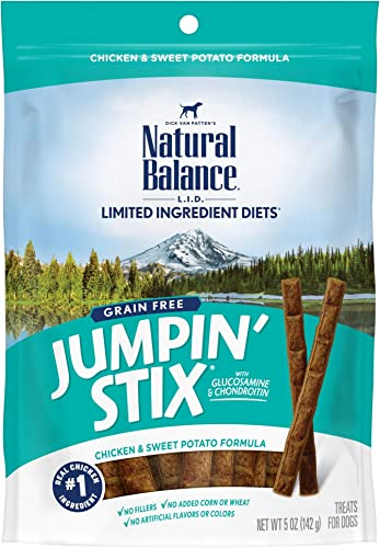 Natural Balance L.I.D. Limited Ingredient Diets Jumpin Stix Dog Treats, Grain Free Packaging May Vary