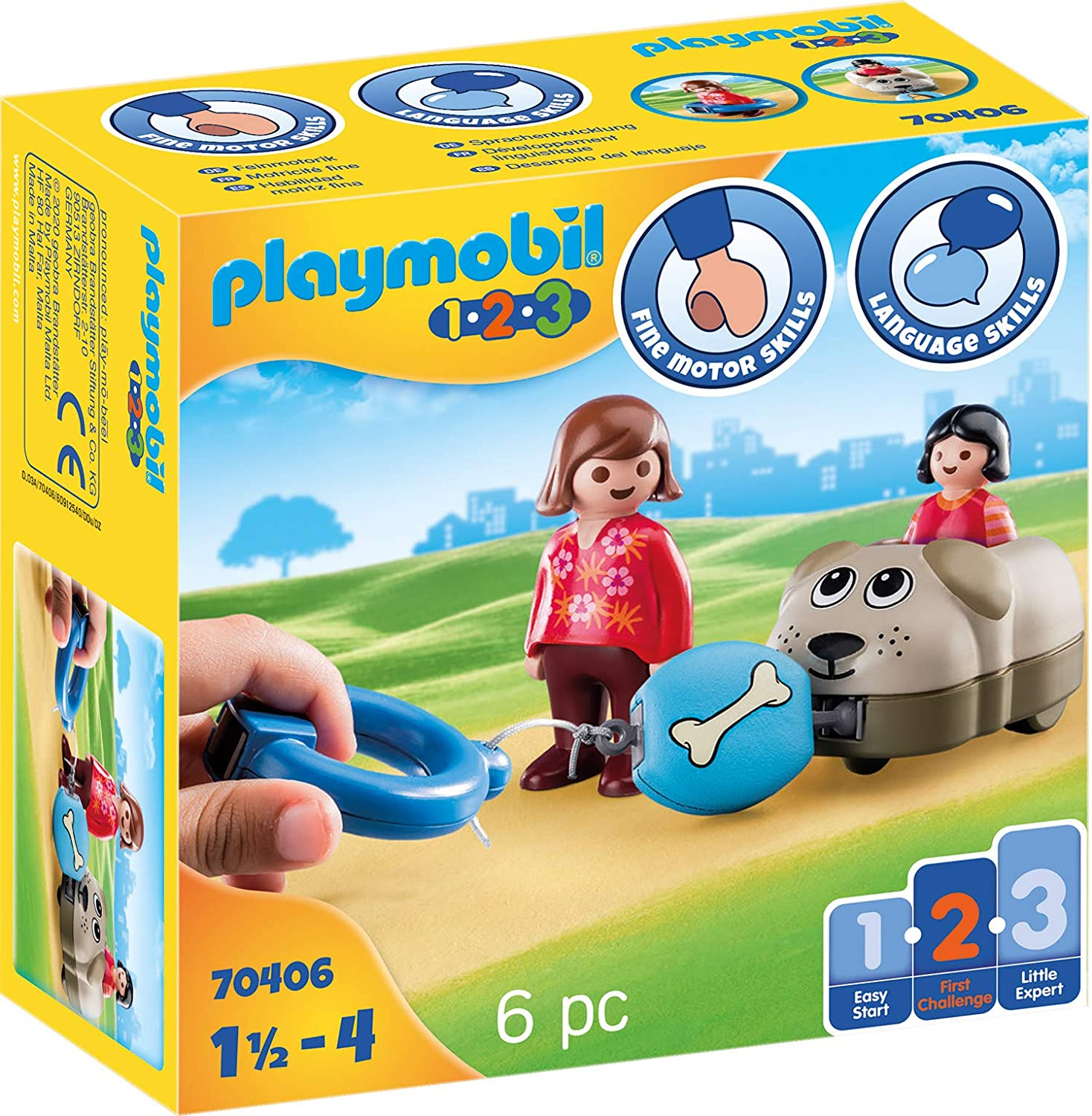 Playmobil 4126 Flatbed Freight Railcar Yellow Train Cargo Car NEW SEALED